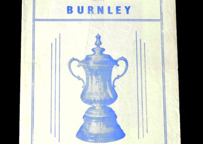 Blackburn v Burnley 08.03.1952 - FA Cup 6th Round (pirate)