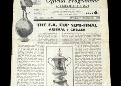 Arsenal v Chelsea 29.03.1952 - FA Cup Semi Final