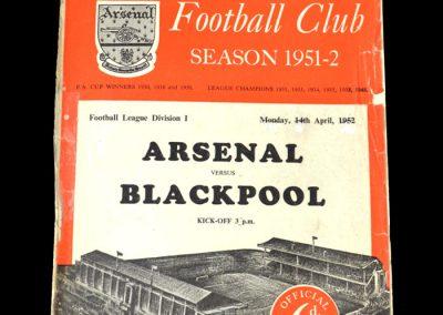 Arsenal v Blackpool 14.04.1952