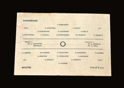 Blackpool Tangerines v Blackpool Whites 14.08.1948