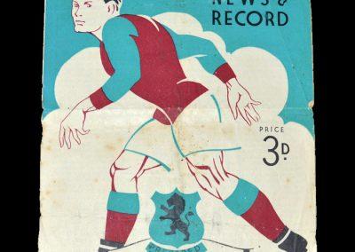 Aston Villa Reserves v Bolton Reserves 28.08.1948 | Aston Villa v Bolton 30.08.1948
