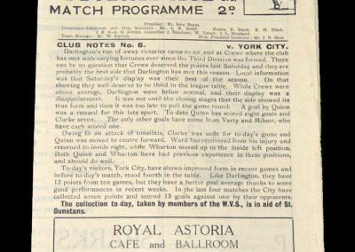 Darlington v York 02.10.1948