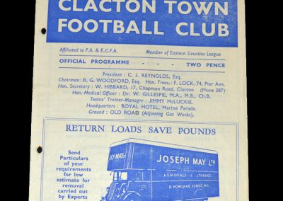 Clacton v Harwich 26.12.1948