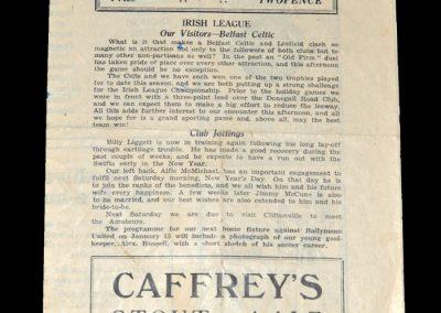 Linfield v Belfast Celtic 27.12.1948 (Riot Match)