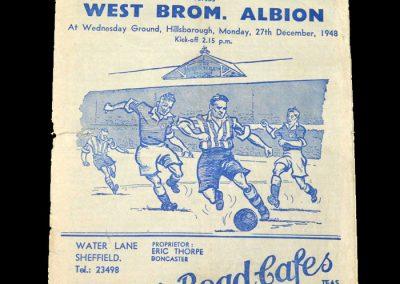 Sheff Wed v West Brom 27.12.1948
