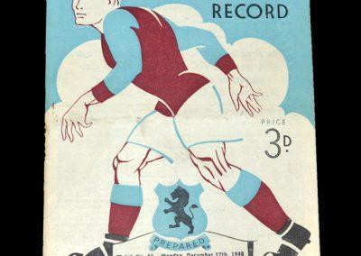 Aston Villa v Wolves 27.12.1948 | Aston Villa Reserves v Barnsley Reserves 28.12.1948