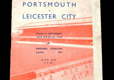 Portsmouth v Leicester 26.03.1949 - FA Cup Semi Final