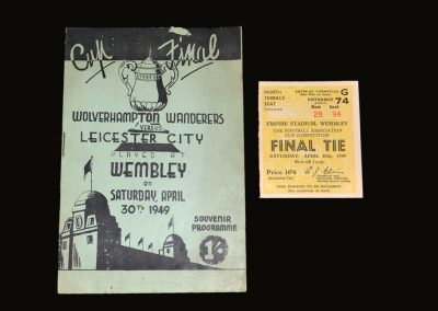 Leicester v Wolves 30.04.1949 - FA Cup Final (pirate & ticket)