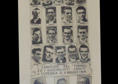 Torino Crash 04.05.1949 - Memorial Postcard