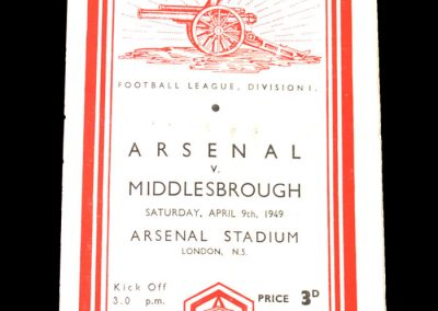 Middlesbrough v Arsenal 09.04.1949
