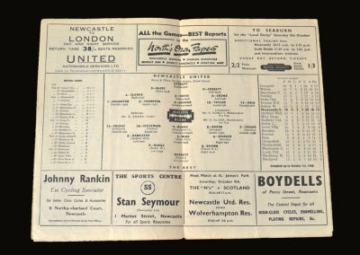 Newcastle v Rest of the League 02.10.1948