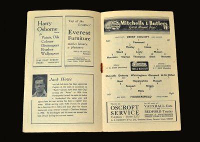 Derby v Huddersfield 25.08.1948