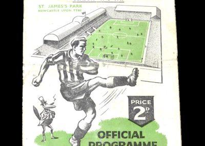 Derby v Newcastle 13.11.1948