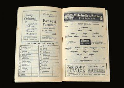 Derby v Portsmouth 20.11.1948