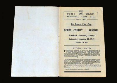 Derby v Arsenal 29.01.1949 - FA Cup 4th Round