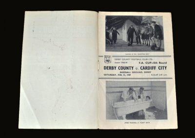 Derby v Cardiff 12.02.1949 - FA Cup 5th Round (Foam Bath?!)