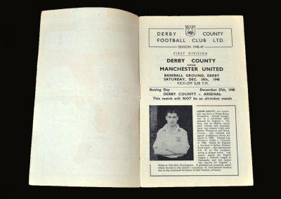 Man Utd v Derby 18.12.1948