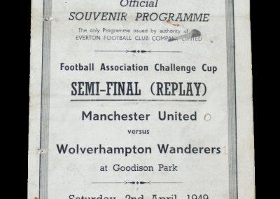 Man Utd v Wolves 02.04.1949 - FA Cup Semi Final Replay