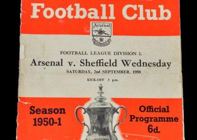 Arsenal v Sheff Wed 02.09.1950