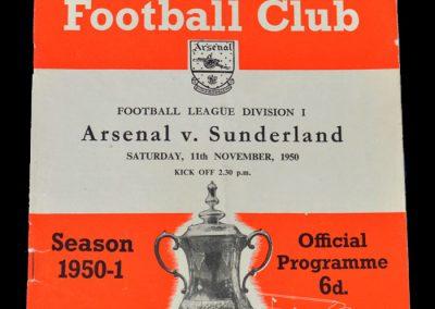 Arsenal v Sunderland 11.11.1950
