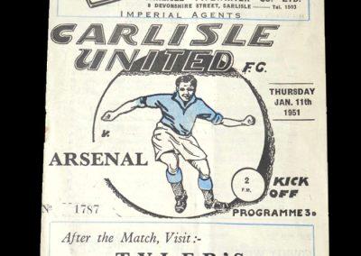 Arsenal v Carlisle 11.01.1951 - FA Cup 3rd Round Replay