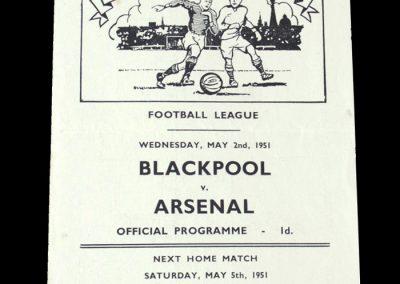 Arsenal v Blackpool 02.05.1951