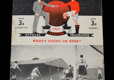 Man Utd v Liverpool 30.08.1950