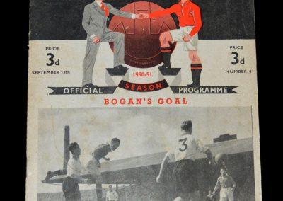 Man Utd v Aston Villa 13.09.1950