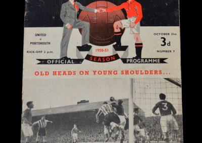 Man Utd v Portsmouth 21.10.1950
