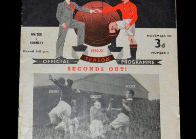 Man Utd v Burnley 04.11.1950