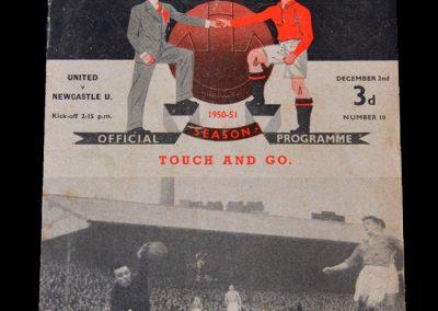 Man Utd v Newcastle 02.12.1950