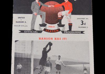 Man Utd v Oldham 06.01.1951 - FA Cup 3rd Round