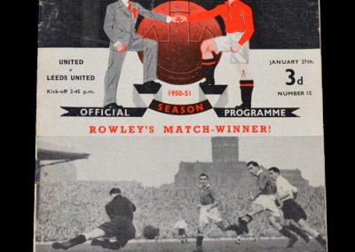 Man Utd v Leeds 27.01.1951 - FA Cup 4th Round