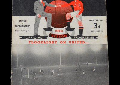 Man Utd v Middlesbrough 03.02.1951