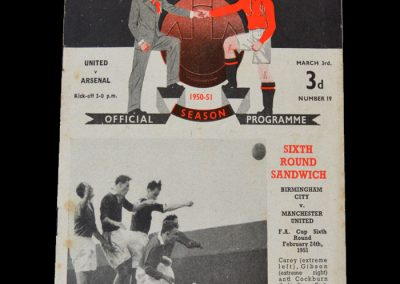 Man Utd v Arsenal 03.03.1951
