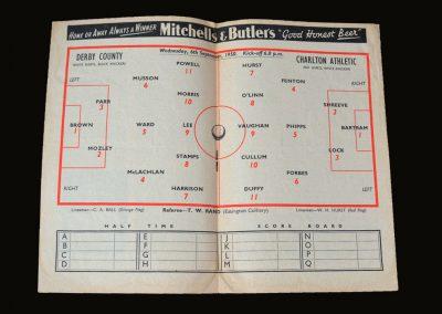 Derby v Charlton 06.09.1950