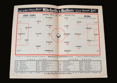 Derby v Arsenal 17.03.1951