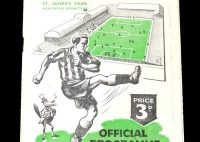 Newcastle Reserves v Everton Reserves 19.08.1950