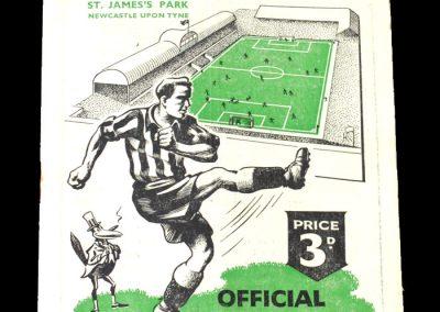 Newcastle v Huddersfield 06.09.1950