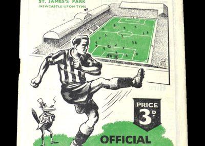 Newcastle v Chelsea 09.09.1950