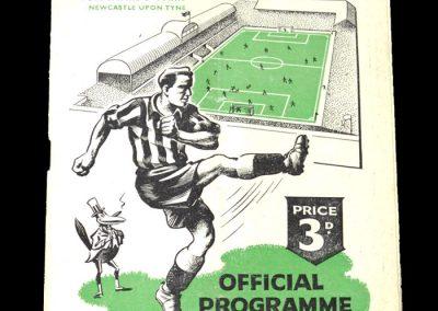 Newcastle Reserves v West Brom Reserves 13.09.1950