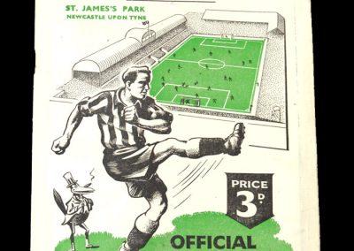 Newcastle v Derby 14.10.1950