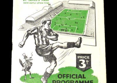 Newcastle Reserves v Barnsley Reserves 21.10.1950