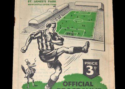 Newcastle v Blackpool 28.10.1950