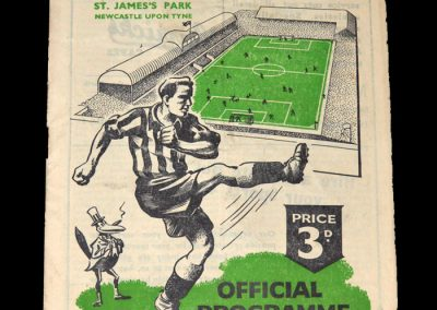 Newcastle Reserves v Liverpool Reserves 18.11.1950