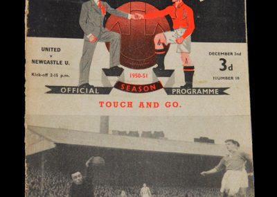 Newcastle v Man Utd 02.12.1950