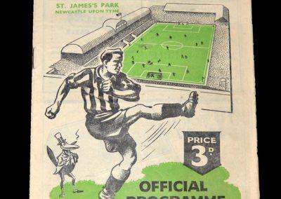 Newcastle Reserves v Sheff Utd Reserves 03.03.1951
