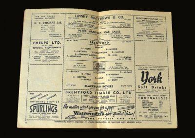 Brentford v Blackburn 30.08.1950