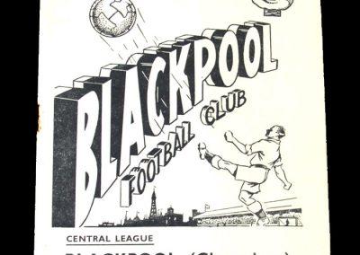 Blackpool Reserves v Rest of Central League 30.09.1950