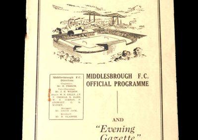Middlesbrough v Huddersfield 30.09.1950